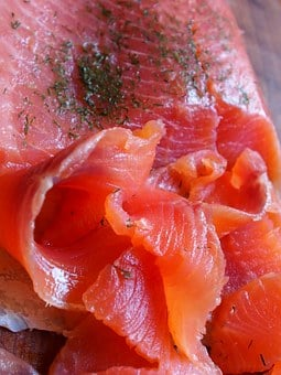 Salmon, Fish, Lox, Orange, Seafood, Dinner, Meal