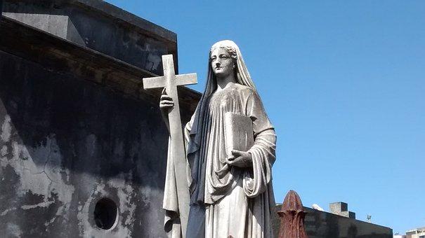Tomb Art, Santa, Angel, Cemetery, Recoleta Cemetery