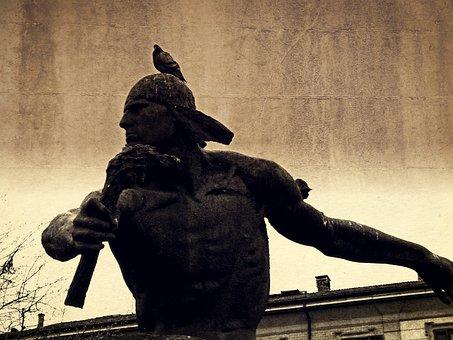 Satire, Monument, Sculpture, Statue, Action Hero