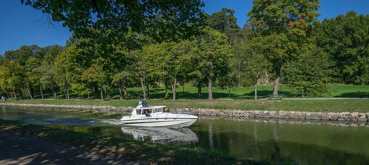 Boat, Stockholm, Sweden, Motor Boat, Water, Travel, Sea