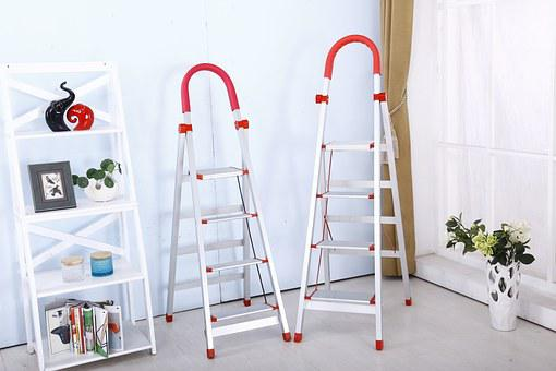 Folding Ladder, Safety, Stainless Steel