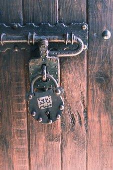 Padlock, Door, Metal, Iron, Forging, Design, Tranca