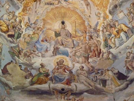 Painting, Mural, Florence, Dome, Church, Tuscany