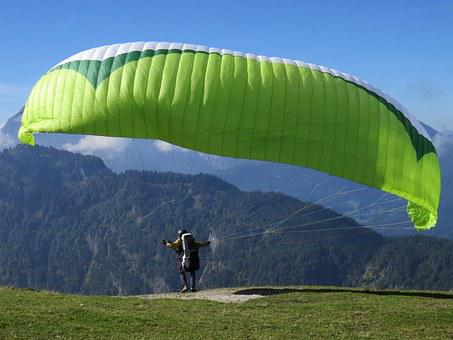Paragliding, Sport, Flying, Paraglider, Action