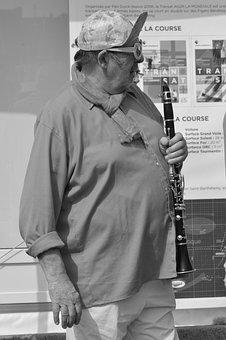 Man, Artist, Art, Street, Clarinet, Concert, City