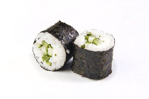 Maki, Sushi, Rice, Avocado, Roll