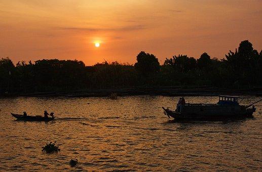 Vietnam, Mekong River, Boat Trip, Mekong Delta