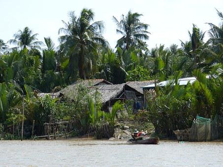 Vietnam, Mekong River, River, Boot, Traffic, Transport