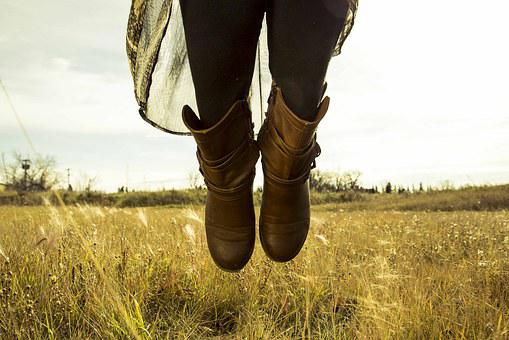 Boots, Grain, Wheat, Leather, Vintage, Old, Outdoor