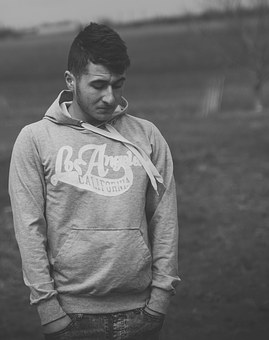 Boy, Portrait, Black And White, Camp, About, Seriously