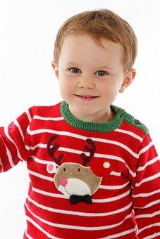 Christmas, Little, Child, Boy, Happy, Winter, Happiness