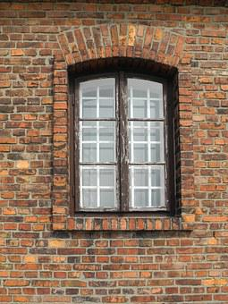 Window, Concentration Camp, Dachau, Krakow, Brick, Old