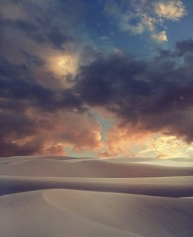 Desert, Landscape, Sky, Sand, Clouds, Nature, Travel