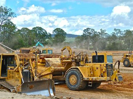 Bulldozer, Crawler, Earth-moving, Earthwork Operations