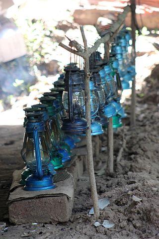 Lantern, Kerosene, Camping, Equipment, Light, Blue