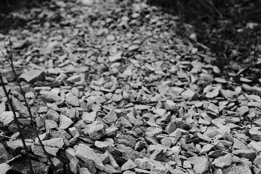 Chippings, Stones, Texture, Fragments, Grey, Outdoor