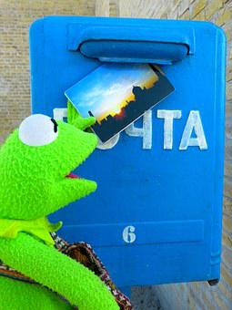 Post, Letter Boxes, Mailbox, Throw A, Postcard, Kermti