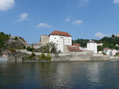 Lower House, Castle, Passau, Headland, Fortress