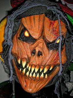 Zombie, Devil, Evil, Halloween, Scary, Mask, Face