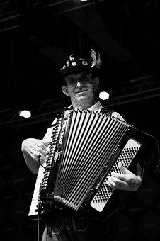 Musician, Accordion, Instrument, Performance, White