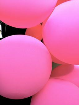 Balloons, Texture, Background, Pink, Bright, Form