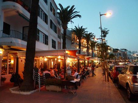 Restaurant, Terrace, Menorca, Outdoor, Cafe, Summer