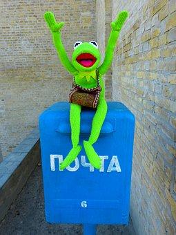 Post, Letter Boxes, Mailbox, Throw A, Postcard, Kermit