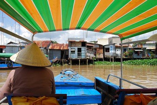 Vietnam, Boat Trip, River, Mekong Delta