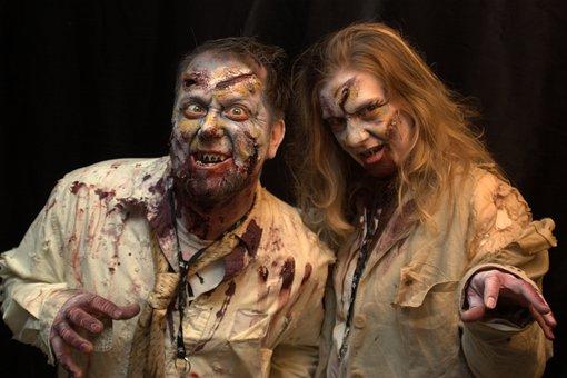 Man, Woman, Zombies, Zombie Couple, Halloween
