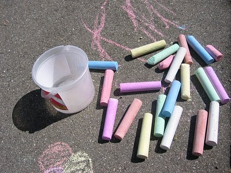 Street Chalk, Chalk, Colorful, Asphalt, Flashlights