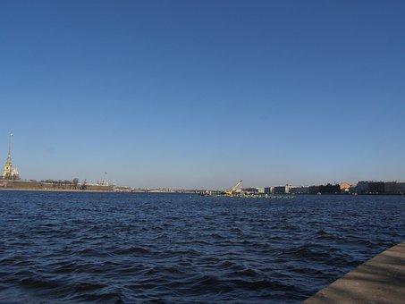 River, Sea, Embankment, City, Wave, Travel, Boat