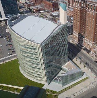Buffalo, New York, City, Urban, Buildings, Grass