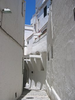 Alley, White, Lime, Eng, City, Building, Houses
