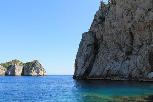 Capri, Mediterranean, Italy, Sea, Coast, Water, Holiday