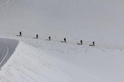 Mont Blanc, Mountaineering, Climbing, Group Of People