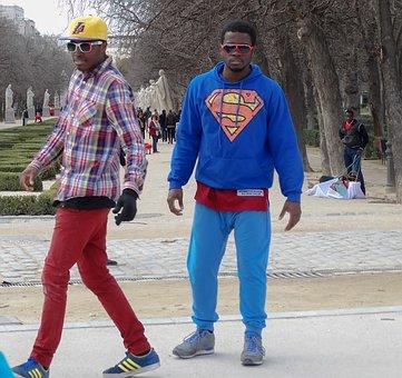 Dancers, Hip Hop, Dance, Colors, Park, Madrid, Spain