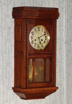 Wall Clock, Antique, Wood, East Frisian Clock