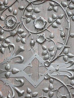 Door, Door Hardware, Ornament, Entwine, Church Door