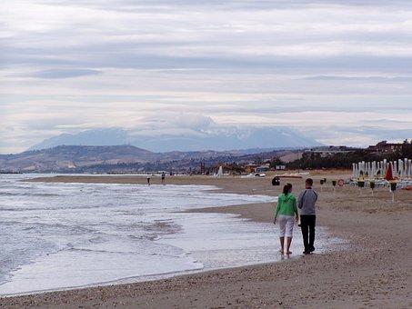 Sea, Water, Beach, Landscape, Woman, Girl, Link
