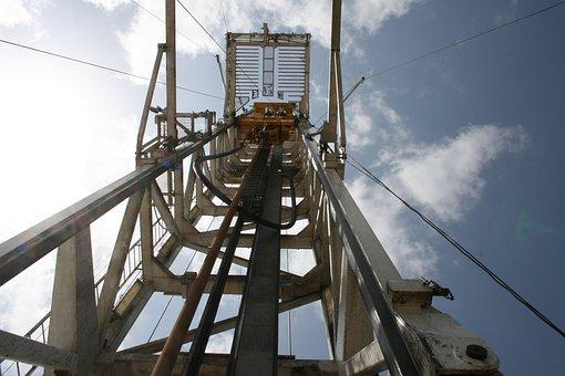 Oil, Rig, Drilling, Derrick, Mast