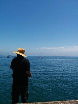 Fishing, Fisherman, Water, Rod, Ocean, Pier, Dock