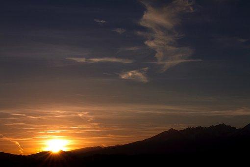 Sunset, Sunrise, Slovakia, High Tatras, Poprad