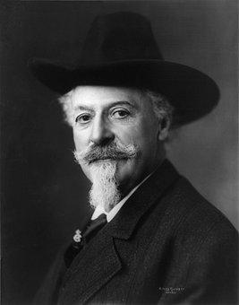 Buffalo Bill, Man, 1911, William F Cody, Portrait