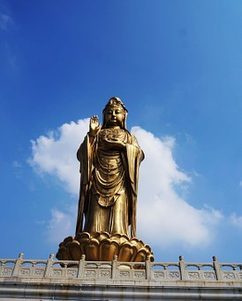 Guanyin, Putuo, Blue Sky