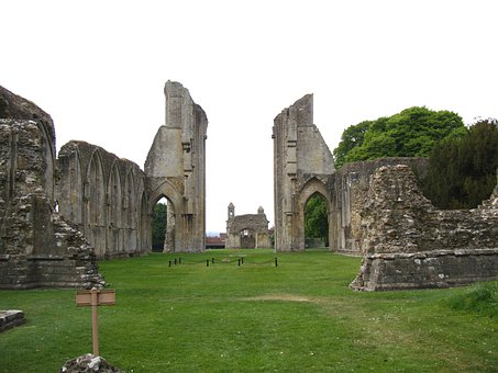 England, Great Britain, Glastonbury Abbey, Ruins, Old