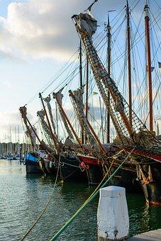 Ships, Wooden, Habour, Terschelling, Port