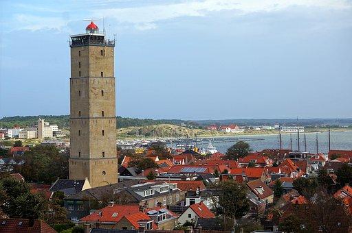 Terschelling, Summer, Panorama, Tower, Bay