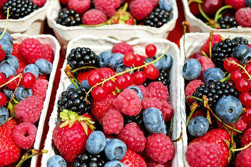 Berries, Fruit, Fruits, Mixed, Fruit Stand