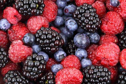 Berries, Fruits, Food, Blackberries, Blueberries