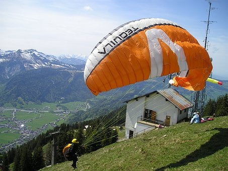 Take Off, Clipping Stage, Start, Paragliding, Wind